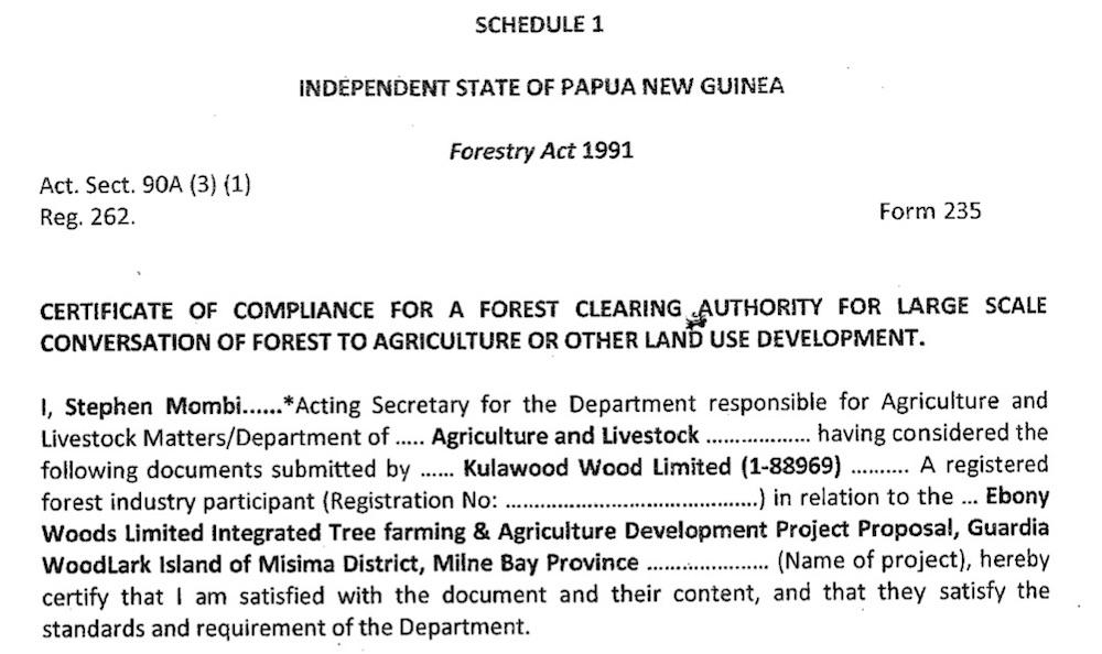 Woodlark Island Logging Scam Part 2 Dal Approval Pngi