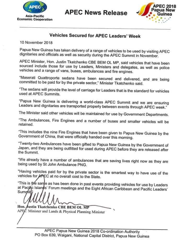 Facts trump government spin in Maserati furore | PNGi