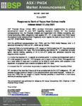 <p>BSP Response to FASU</p>